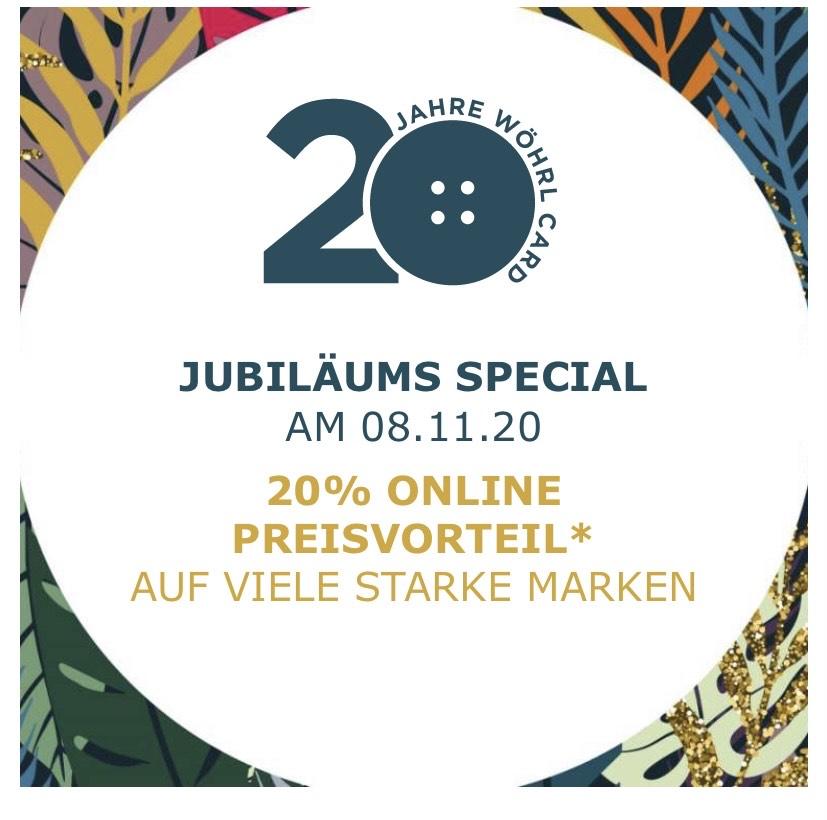 [Wöhrl Online] 20% Rabatt auf ausgewählte Marken