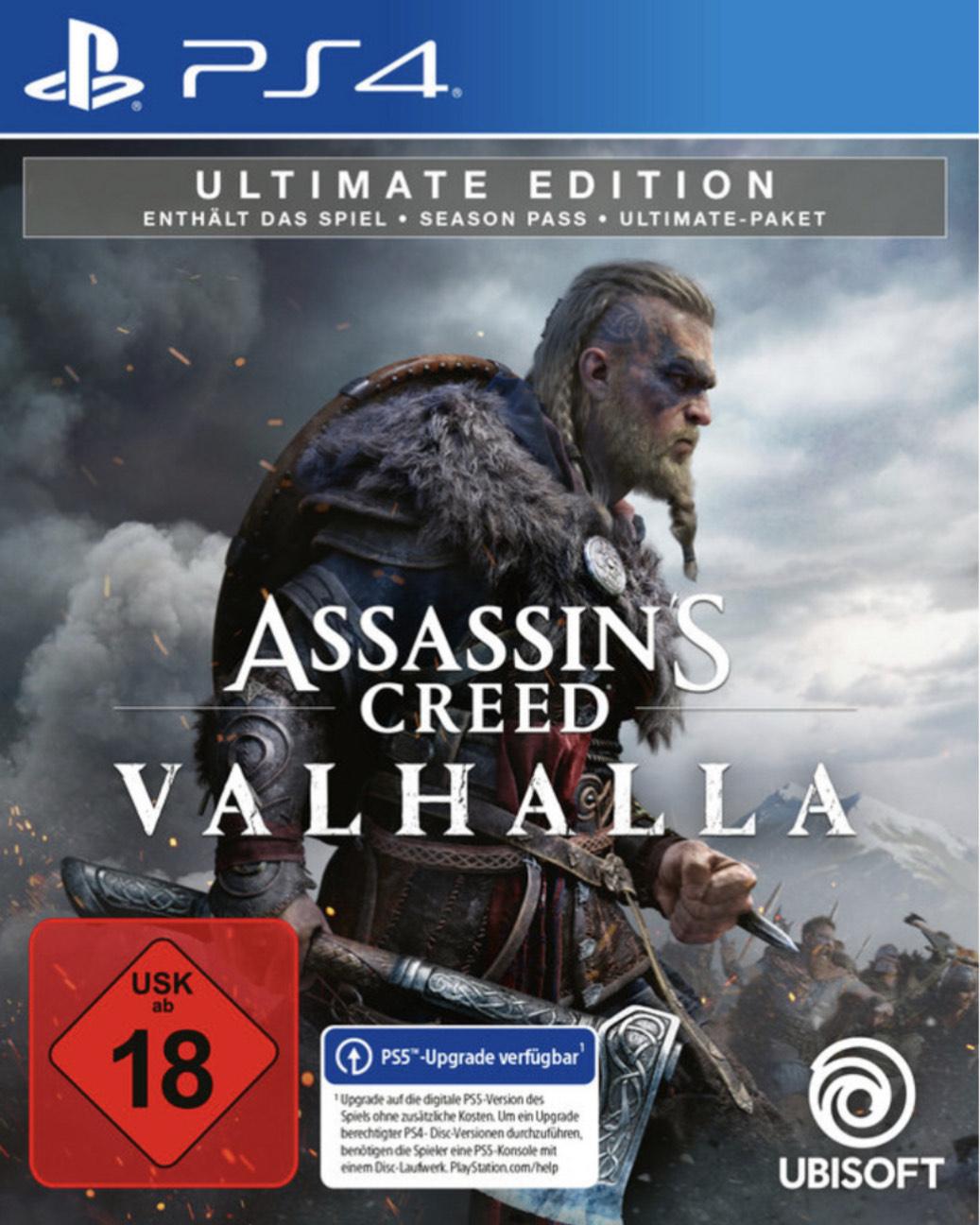 Assassin's Creed Valhalla (Ultimate Edition) (Lokal, PS4) Standard 55,99 App Gutschein 5€ möglich