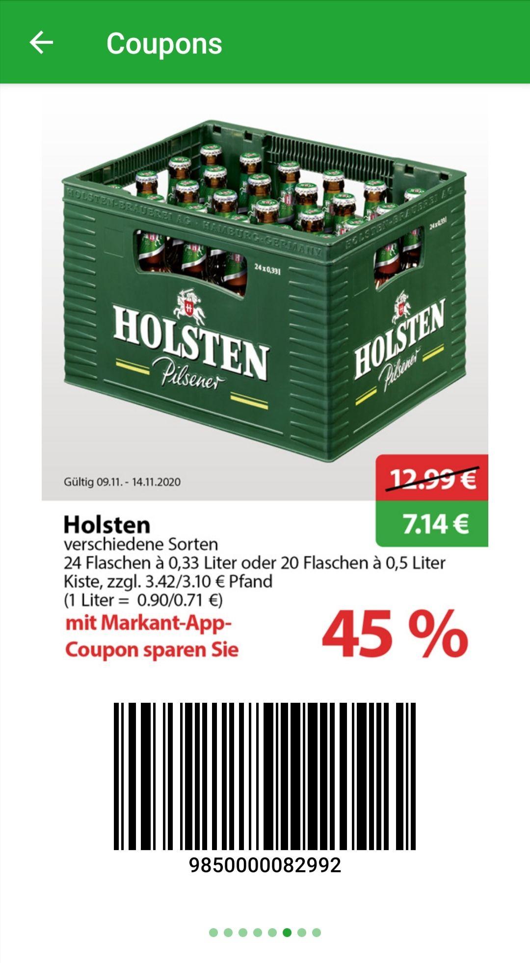 [Markant] Holsten Flaschenbier 0,33l oder 0,5l