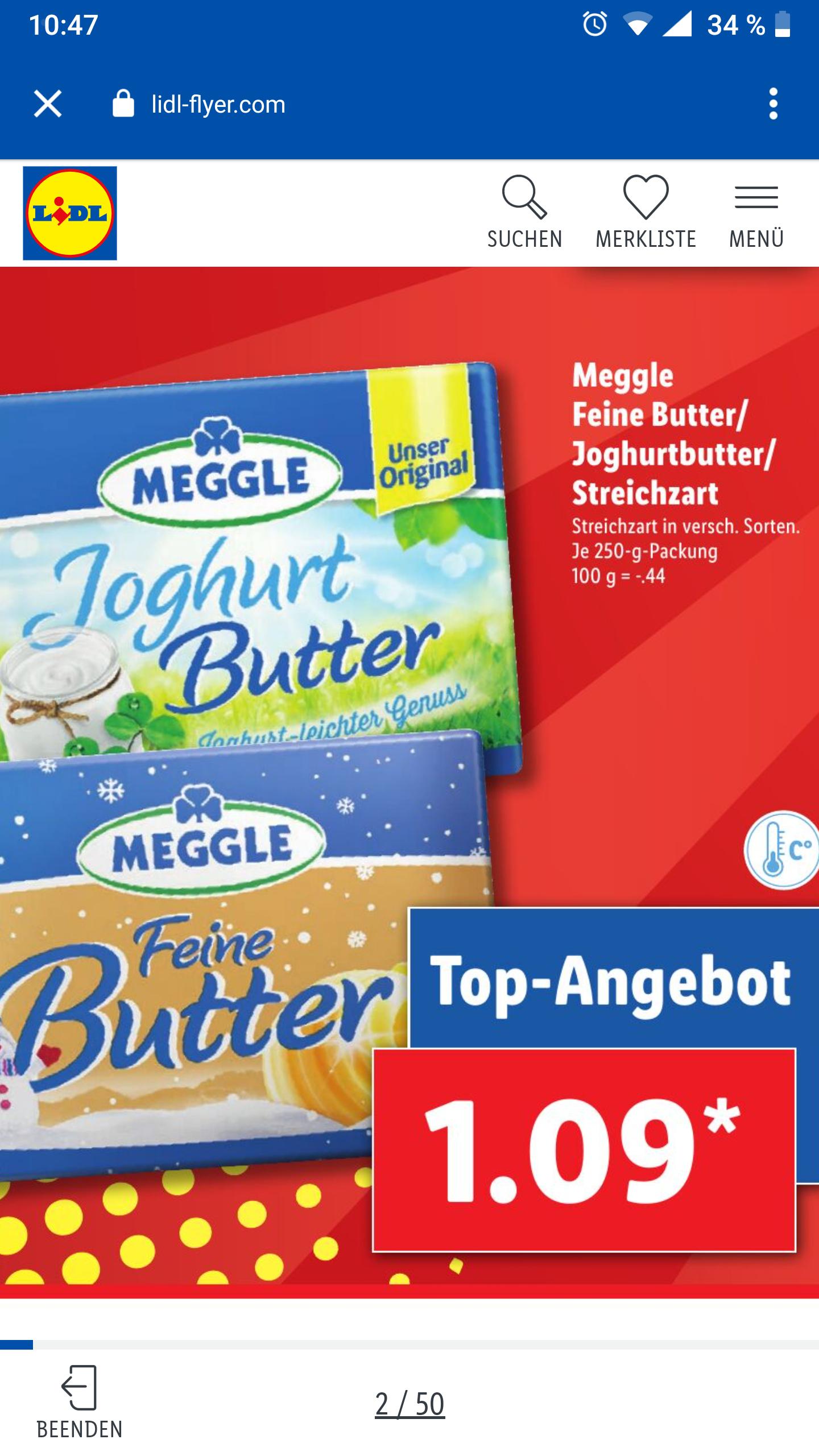 LIDL Meggle Butter / Joghurtbutter / Streichzart