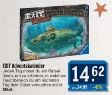 [E center Nordbayern] Ravensburger EXIT Adventskalender - Das gesunkene U-Boot