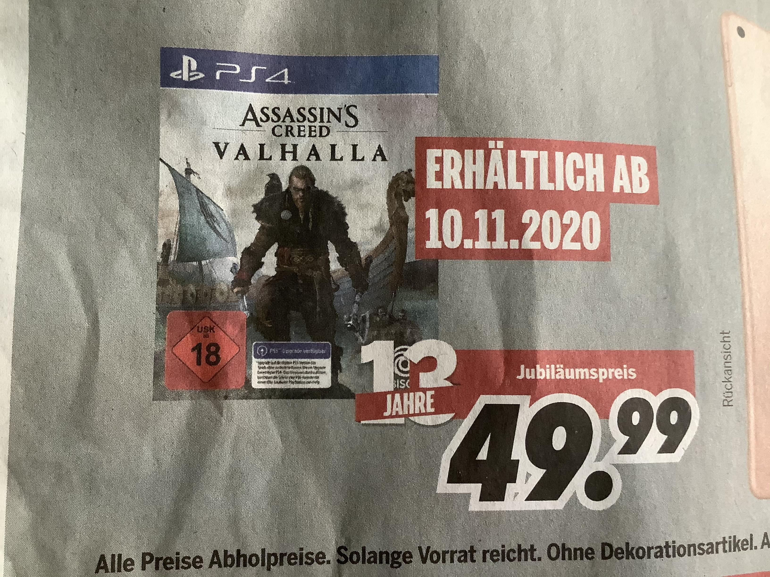 Lokal Assaissins Creed Valhalla PS4 inkl. PS5 Upgrade Medimax Strausberg 10.11.2020
