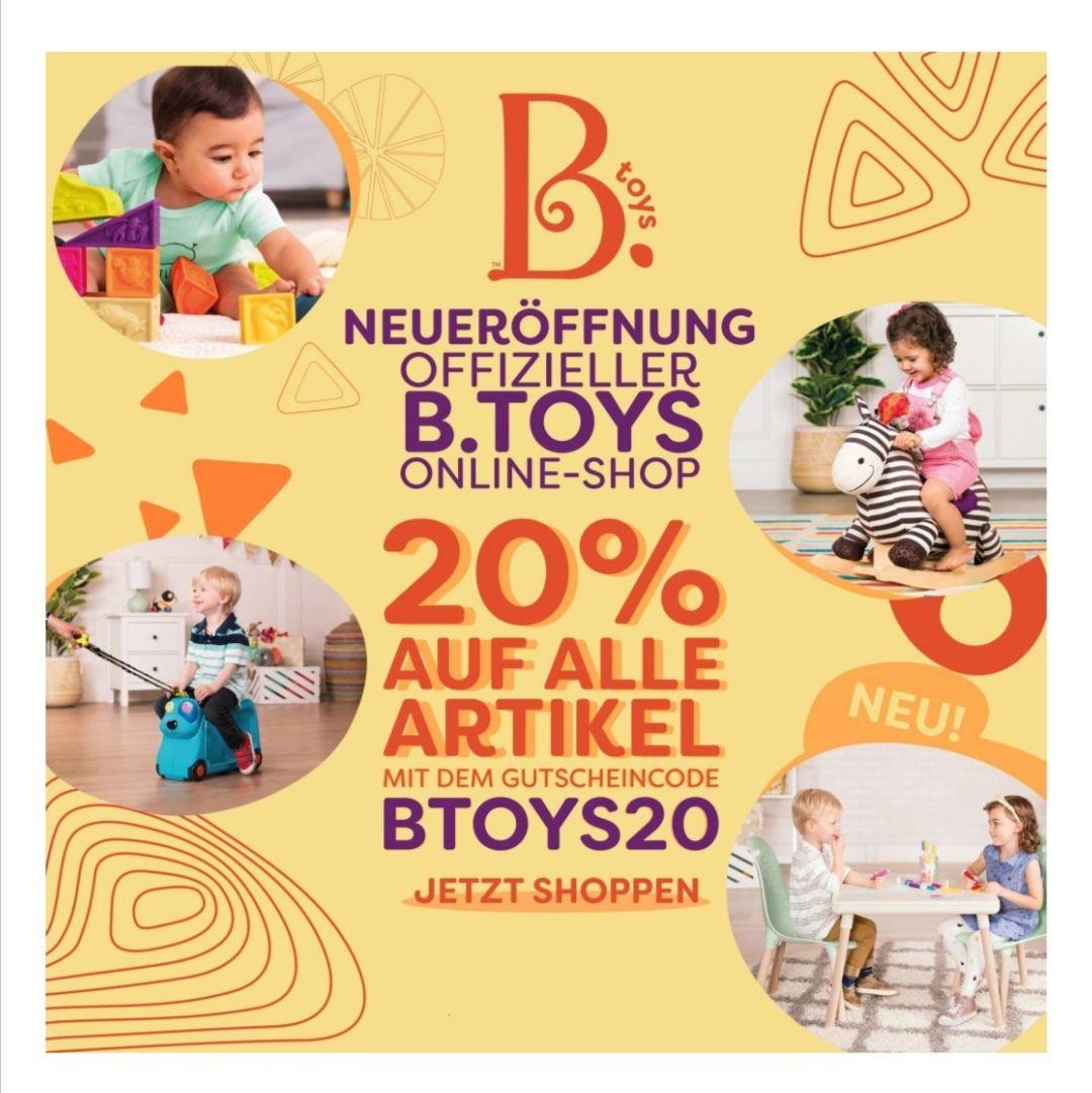 20% Eröffnungsrabatt bei B. Toys