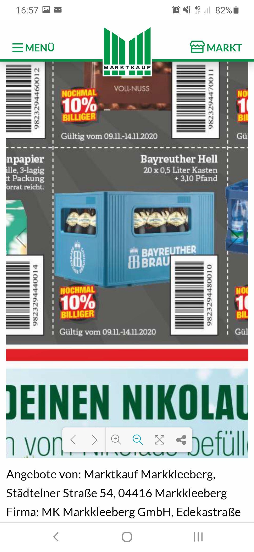 Bayreuther Bier 20x0.5L (Lokal Leipziger Land?)12,66-10%=11.39+3,10Pfand