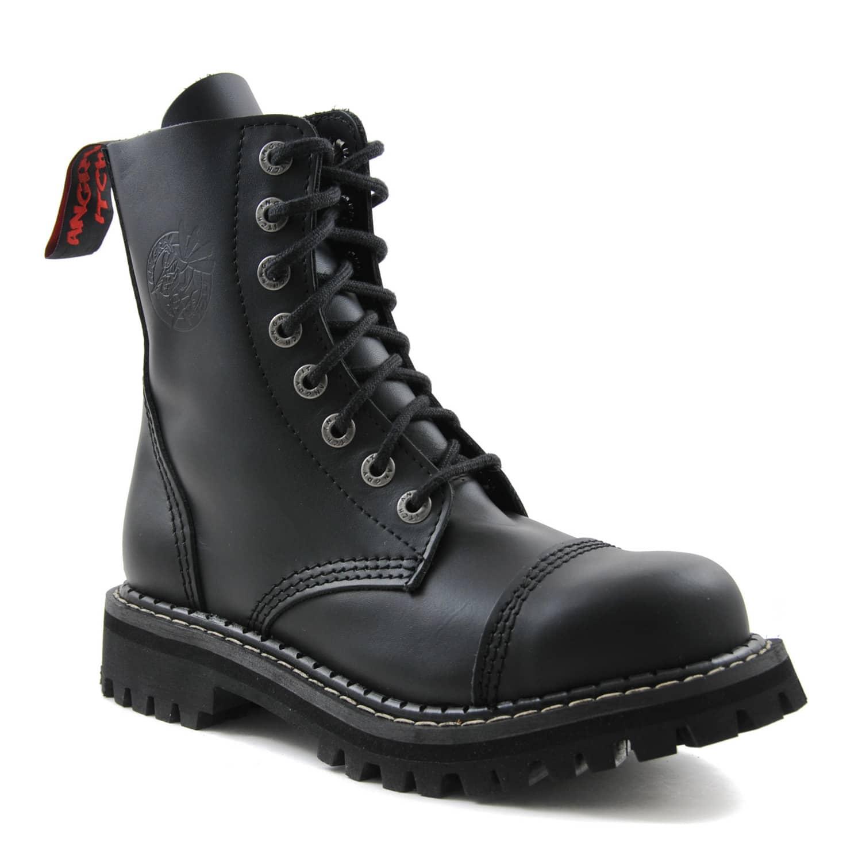 [Nischendeal] Angry Itch 8-Loch Boots schwarz vegan