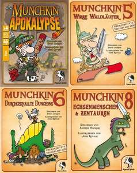 Brettspiele bei Hugendubel, u.a. Munchkin, Exit, Legenden von Andor, Pictures