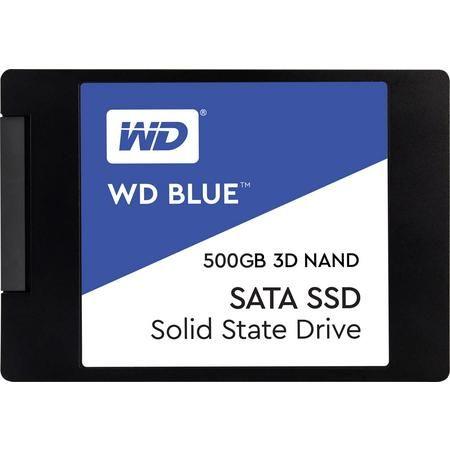 """WD Blue 3D NAND 500GB 2,5"""" SSD (3D TLC, 512MB DRAM, 5 Jahre Garantie) [Sofortüberweisung]"""