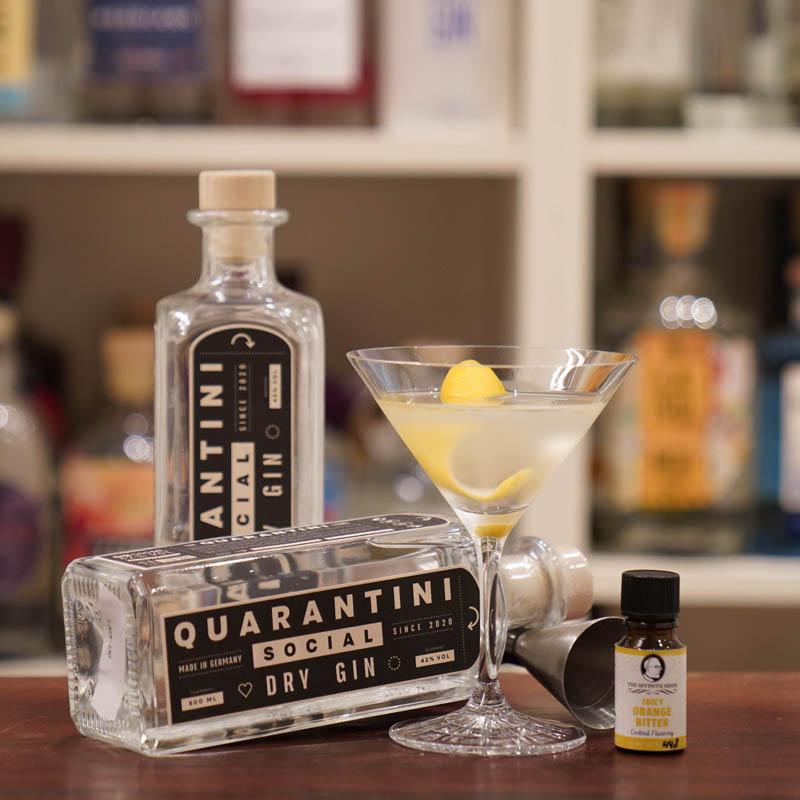 Mit dem Quarantini Gin etwas Gutes tun und 10% Rabatt kassieren