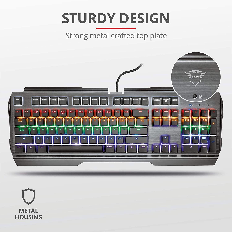 Trust Gaming GXT 877 Scarr Mechanische Gaming Tastatur [Amazon]
