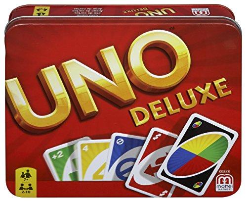 Mattel UNO Deluxe Kartenspiel Box für 11,99€ inkl. Versandkosten mit Prime / weitere Varianten verfügbar