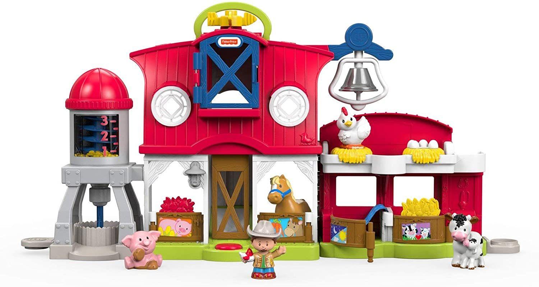 Sammeldeal Fisher-Price FKD14 Little People Bauernhof Spielset mit Geräuschen inkl. 5 Spielfiguren und Tieren, ab 12 Monaten [Amazon Prime]