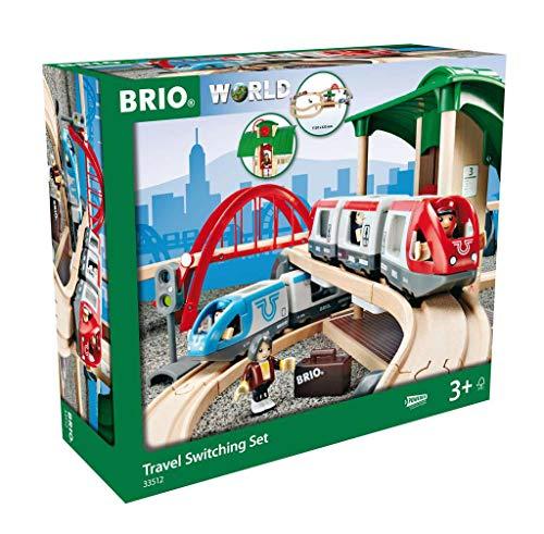 [Amazon oder windeln.de] BRIO World 33512 Großes BRIO Bahn Reisezug Set – Eisenbahn mit Bahnhof, Schienen und Figuren