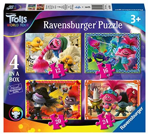 [Amazon Prime oder Smyths] Ravensburger 4-in-a-box PuzzlesTrolls World Tour