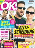 OK! Abo (56 Ausgaben) für 135,41€ mit 110€ BestChoice-Gutschein/ 105€ Amazon-Gutschein/ 120€ Otto-Gutschein