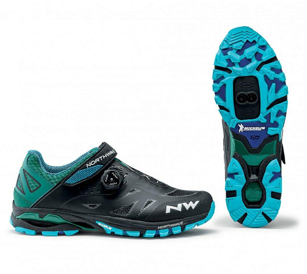 Northwave Spider Plus 2 MTB Schuhe schwarz/blau viele Größen