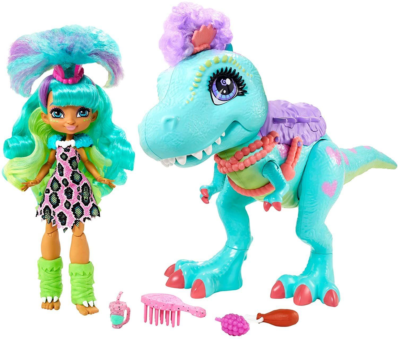 Sammeldeal z.B Cave Club Rockelle Puppe & Tyrasaurus Figur Spielset, Dinosaurierfigur und Zubehörteile, Spielzeug ab 4 Jahren [Amazon]