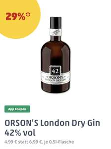 [PENNY] Orson's 42 London Dry Gin 42% (1 x 0,5l) | MIT COUPON!