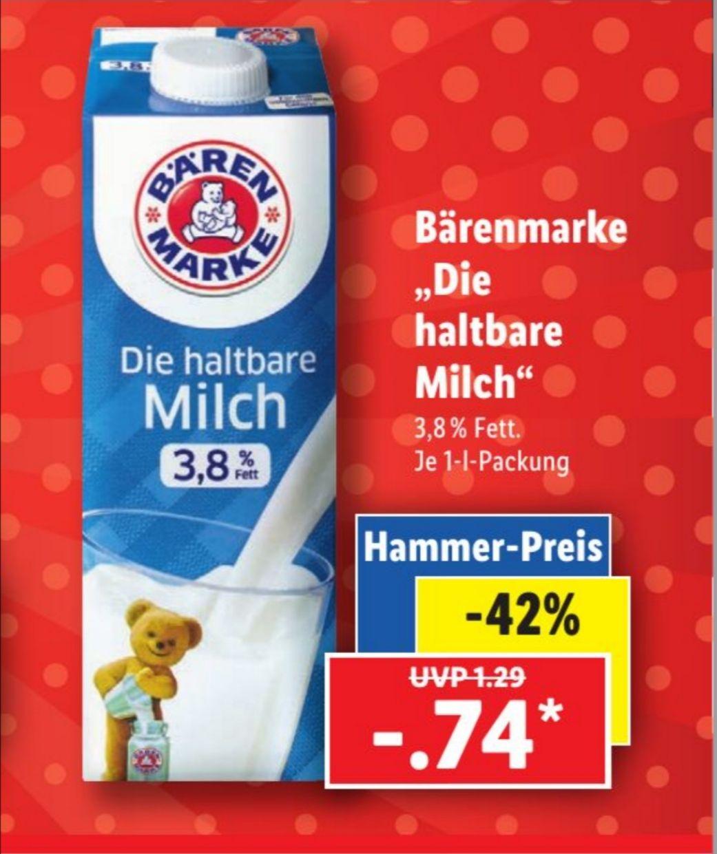 Bärenmarke 1 Liter haltbare Milch