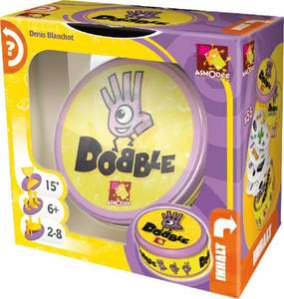 Asmodee Dobble (Legespiel, ab 6 Jahren, 2-8 Spieler, Dauer ca. 15 Min.) [Thalia KultClub]