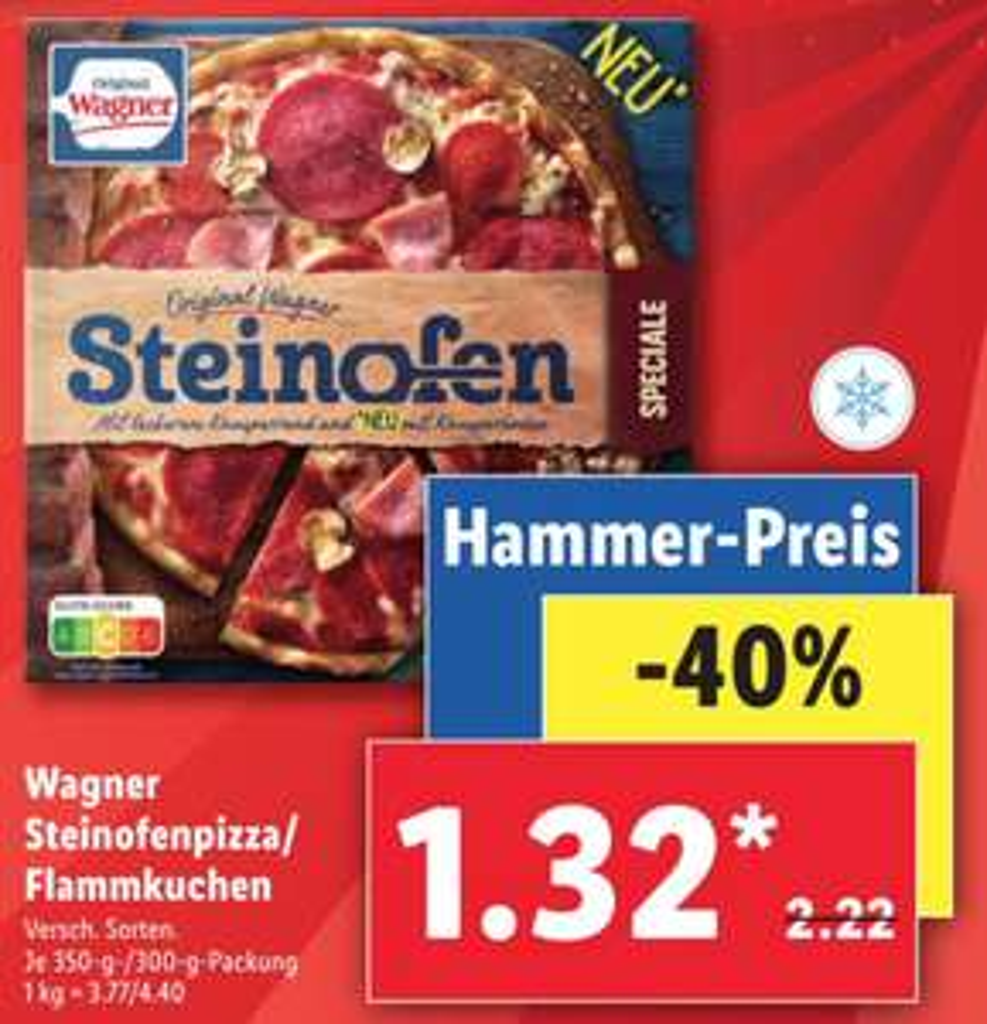 [Lidl] Wagner Pizza/Flammkuchen für jeweils 1,32€ ab 16.11.2020