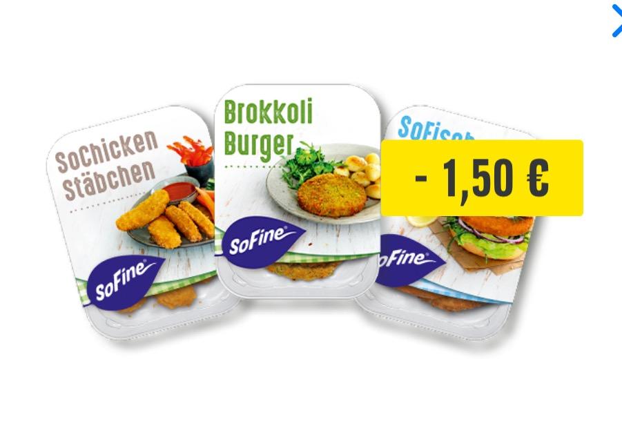 Edeka Rhein-Ruhr: Sofine Vegane Spezialitäten für 0,94 EUR (statt 2,93 EUR)
