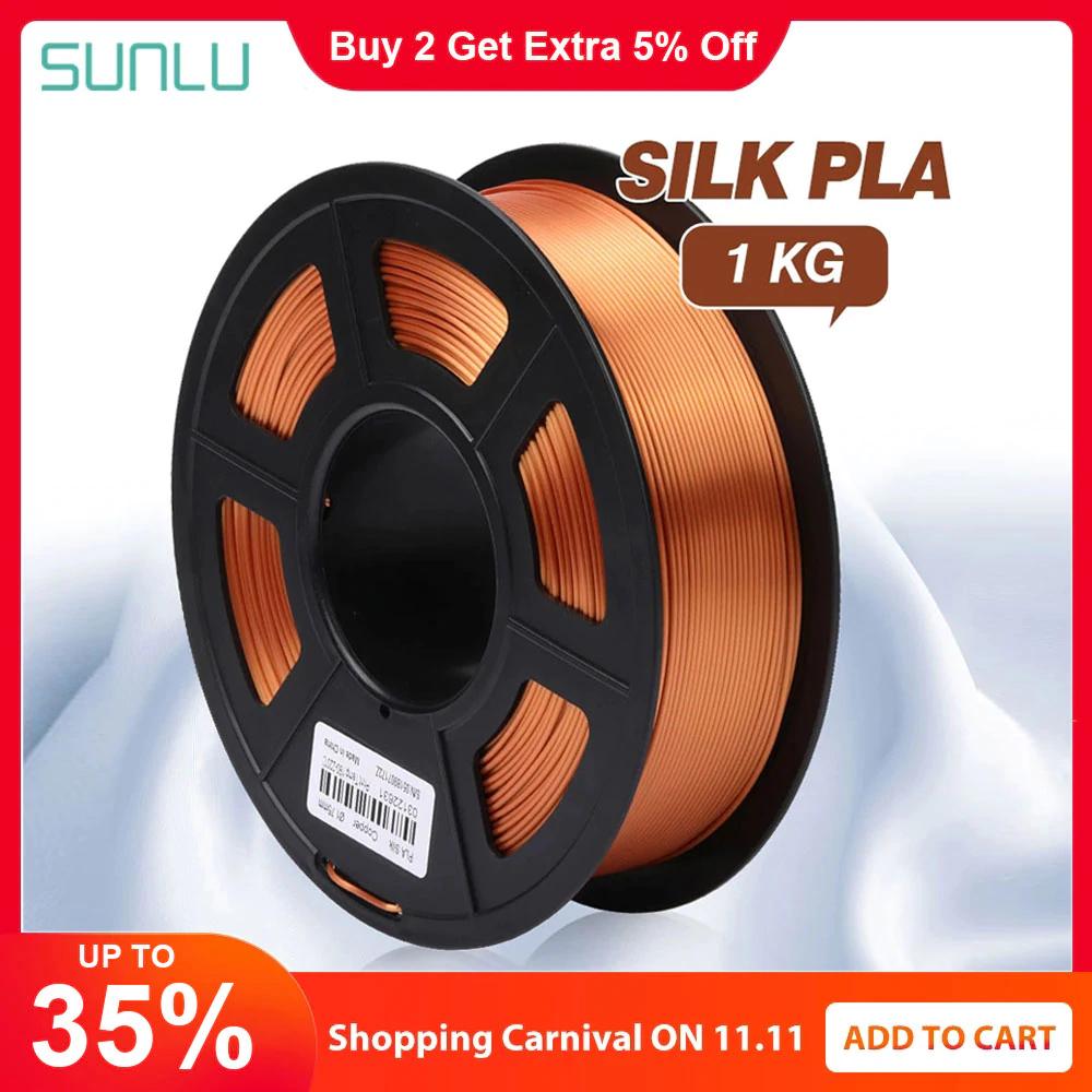 SUNLU Silk PLA Filament 1.75mm 1kg für 3D-Drucker [Singles Day]