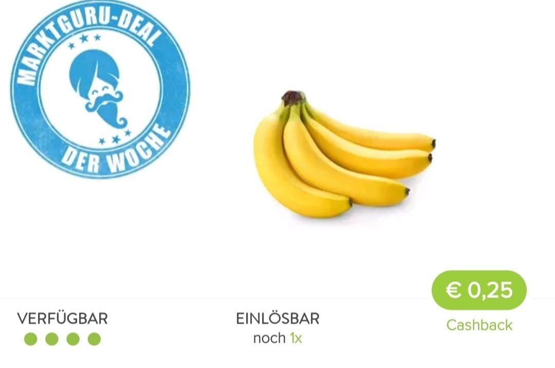 0,25€ Cashback bei Marktguru beim Kauf von Bananen über 0,26€