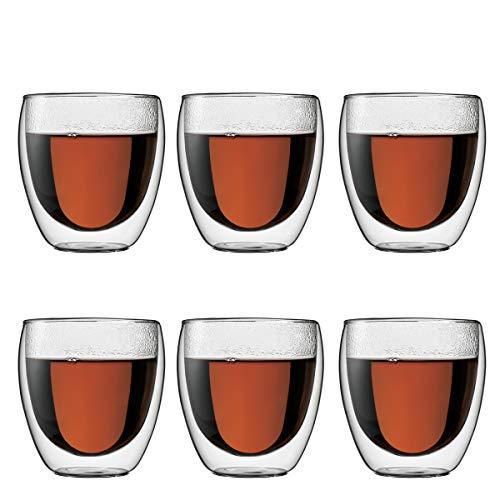 Bodum Pavina Glas doppelwandig 0,25 Ltr. 6er Set