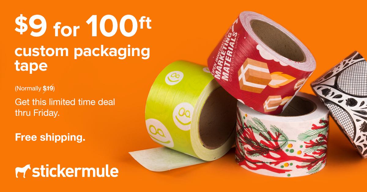 [Stickermule] Individualisiertes Verpackungsband (30m für 7,99€ / 60m für 10€)