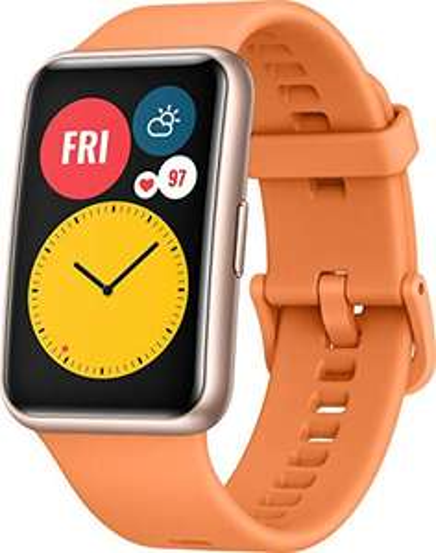 HUAWEI WATCH FIT Smartwatch, 1,64 Zoll AMOLED-Display, Quick-Workout-Animationen, 10 Tage Akkulaufzeit, 96 Trainingsmodi, GPS, 5ATM