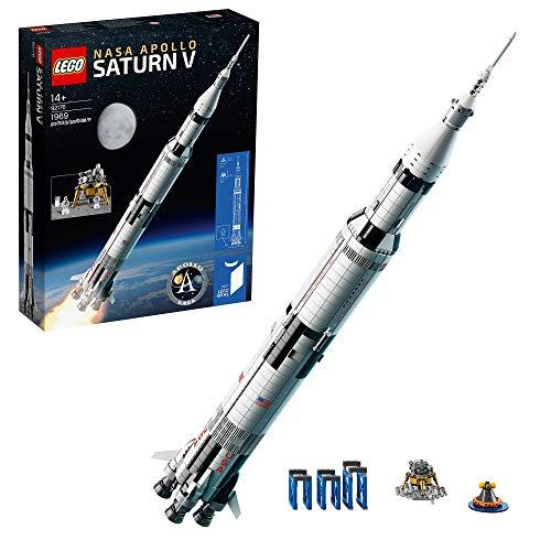 Prime LEGO 92176 Ideas NASA Apollo Saturn V Weltraumrakete und Fahrzeuge