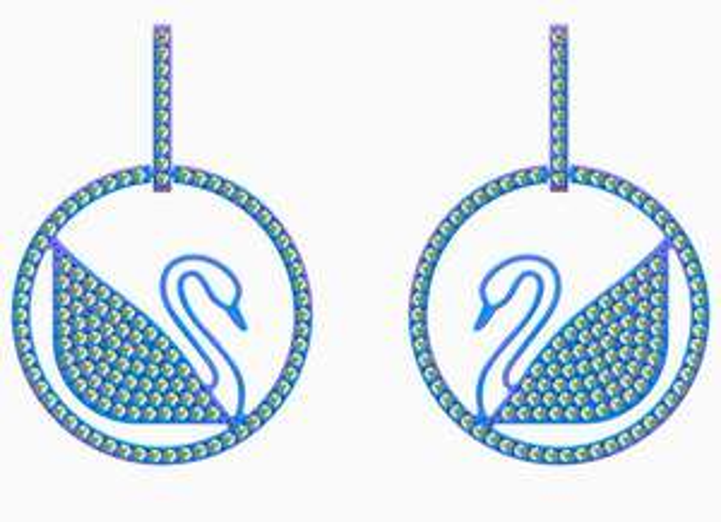 Swarovski Damen Ohrringe Pop Swan Ohrringe Limitierte Serie