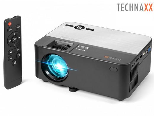 "Technaxx Mini-Beamer ""TX-132"" (Mit Bluetooth & integrierten Lautsprechern, Inkl. Multimedia-Player, WVGA, 1800 Lumen) [iBOOD]"