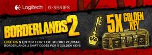 [Facebook] 5 Golden Keys - Borderlands 2 Shift Code [NUR PC]- Seite von Logitech Gaming liken - maximal 30.000 Codes