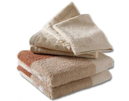 """6-teiliges Handtuchset """"Bella"""" aus Baumwolle in beige (8,99 € - vk-frei)"""