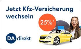 DAdirekt KFZ versicherung -25% Rabatt