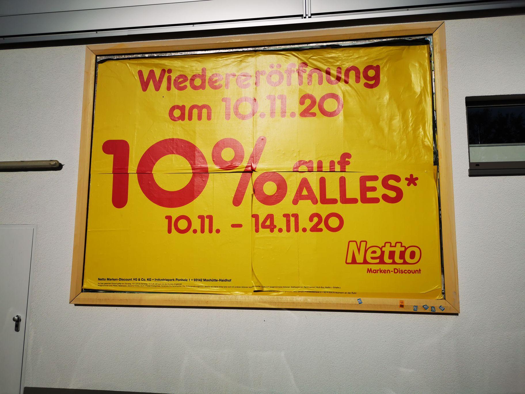 10% bei Netto Sankt Augustin Birlinghoven 10-14.11.2020