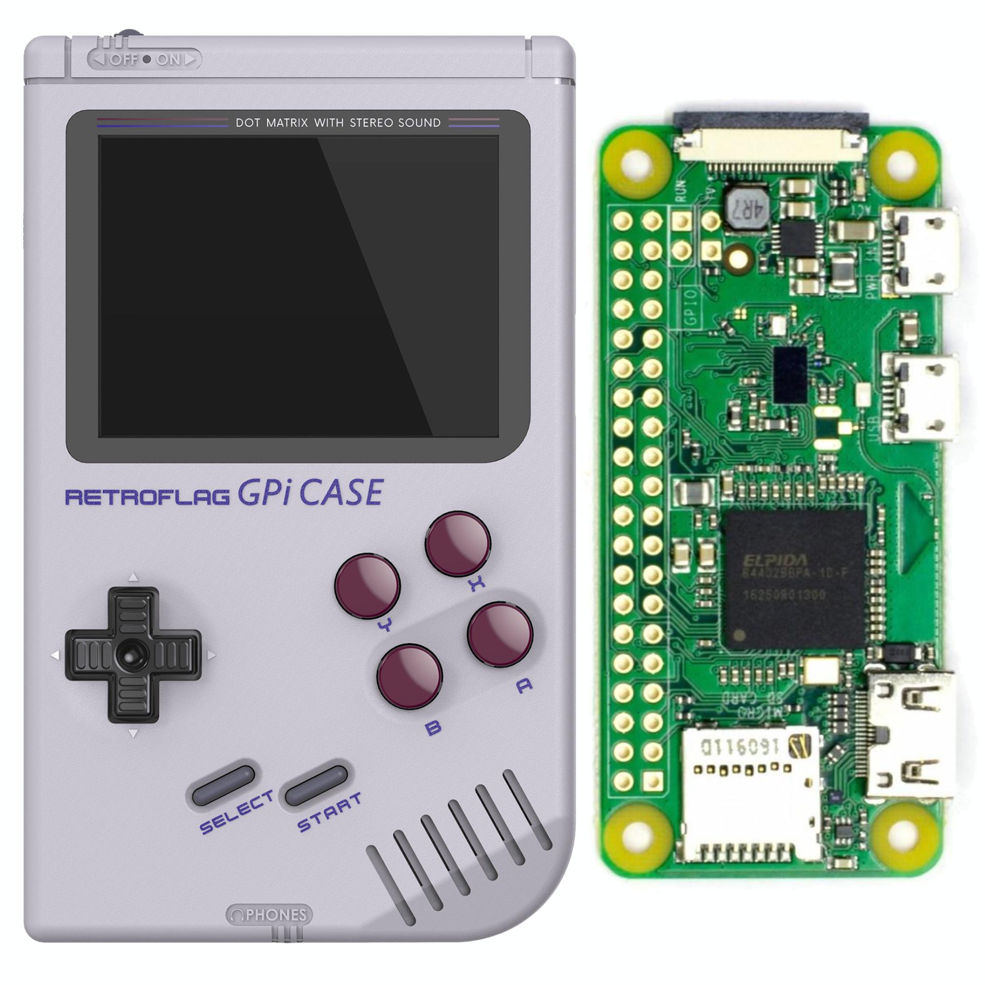 """Retroflag GPI Case mit Raspberry Pi Zero W (Gameboy Design, 2.8"""" Display, 8-Bit, 3.5mm Klinke, AA betrieben)"""