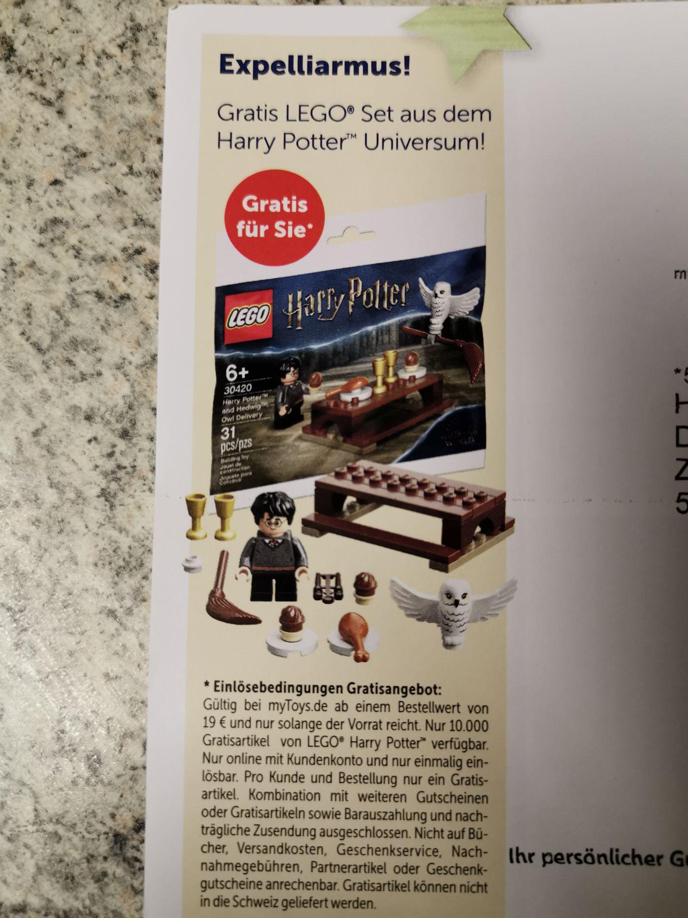 Gratis LEGO Harry Potter Set als Zugabe (MBW 19€)