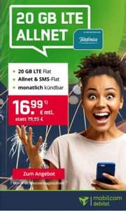 20GB (225 MBit) + AllNet/SMS-Flat im MD Green LTE (mon. kündbar)