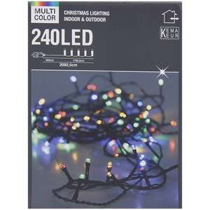 [ Action ] Multi Color 240 LED- Lichterkette Weihnachtsbeleuchtung 20,9m
