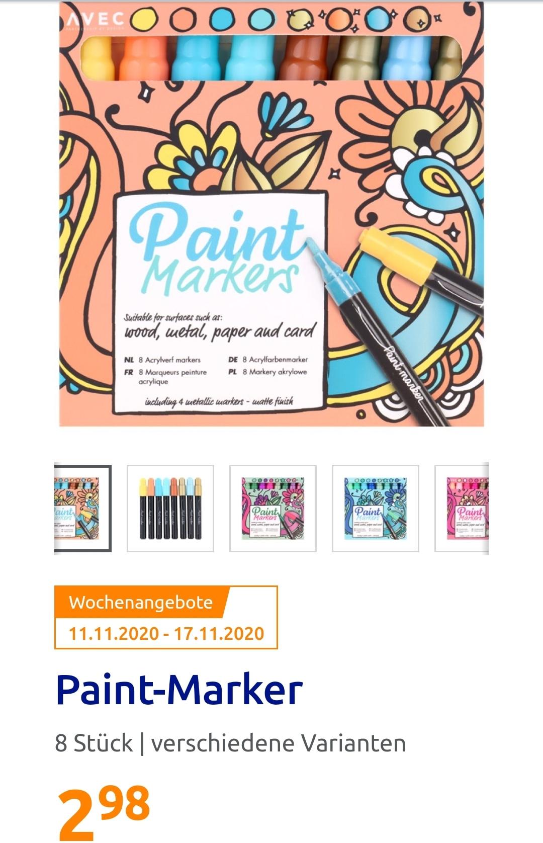 [ Action ] Paint Marker 8 verschiedene Farben