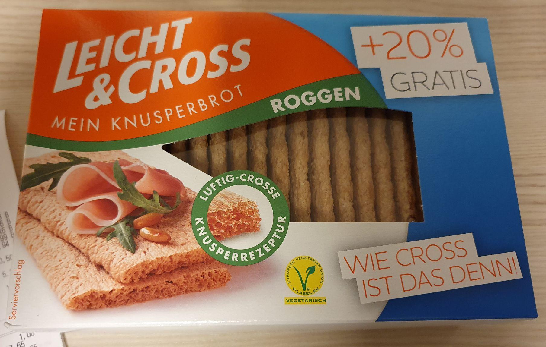 (Rewe) Leicht&Cross Roggen +20% Inhalt (150g statt 125g) für 0,78€ mit Marktguru Cashback effektiv 0,28€