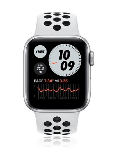 Apple Watch Nike Series 6 Aluminium LTE 44mm Platinum Black im Vodafone Smart L Plus für 34,99€ mtl. 1€ einmalig 15GB LTE bis 500Mbit/s