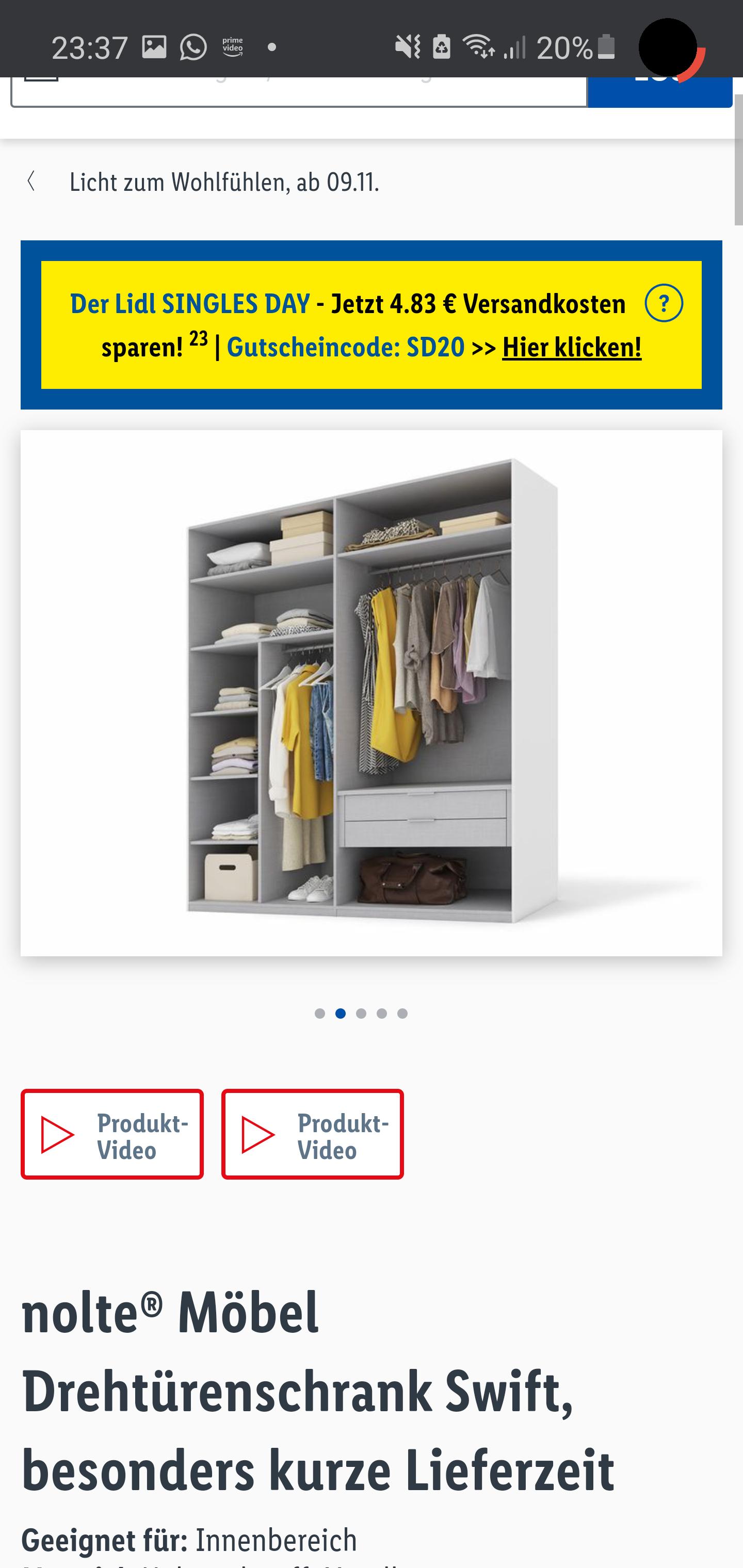nolte® Möbel Drehtürenschrank Swift, besonders kurze Lieferzeit