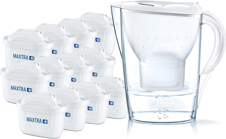 BRITA Wasserfilter Marella weiß inkl. 12 MAXTRA+ Filterkartuschen // mit 6 Kartuschen 24,99€ statt 32,98€ [Prime]