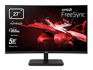 Vorbestellung: Acer ED270RP 27 Zoll VA Curved 1500R ZeroFrame Monitor (2xHDMI, DP, FHD, 5ms, 165Hz, 250 Nits, AMD FreeSync), UM.HE0EE.P01