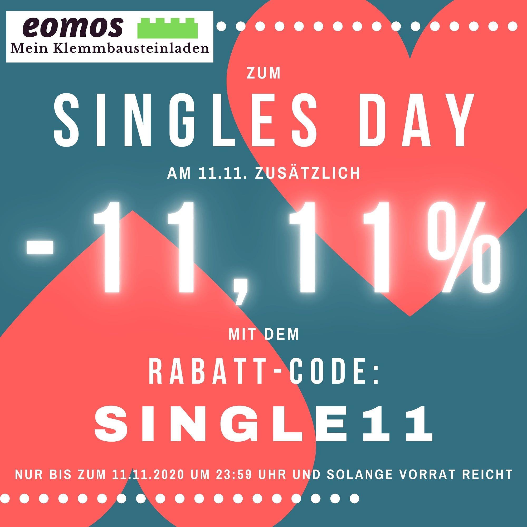 -11,11% Rabatt zum Singles Day bei eomos Mein Klemmbausteinladen