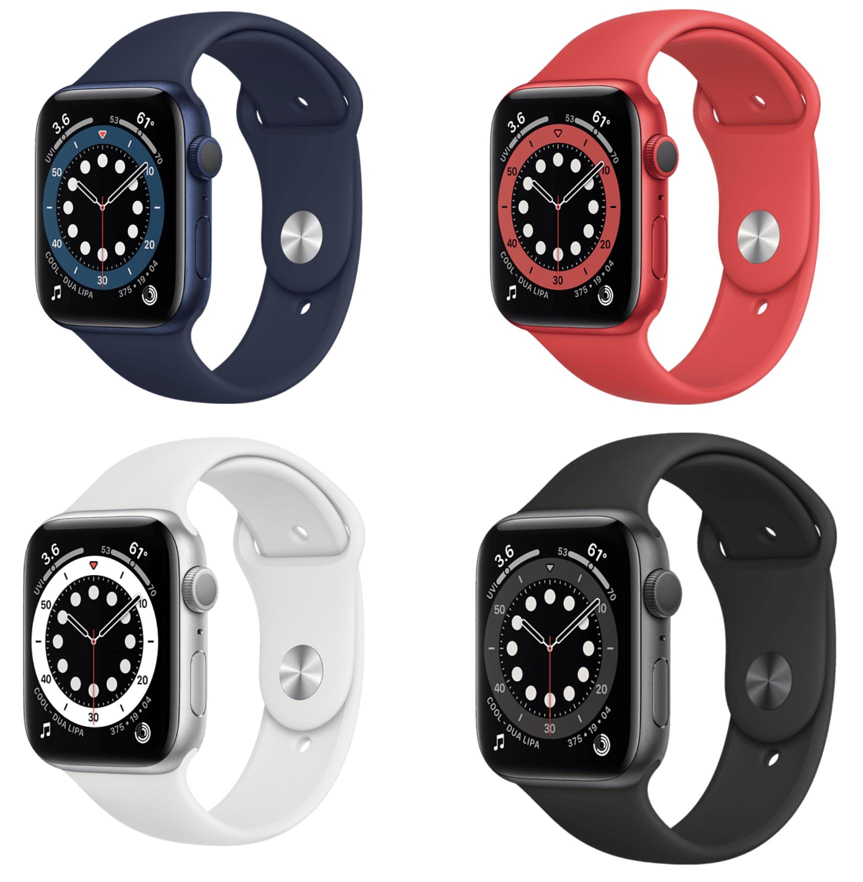APPLE Watch Series 6 GPS Smartwatch 40mm für 363,25€ / 44mm Variante für 389,29€ inkl. Versandkosten