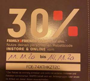 Snipes Family & friends 30% Rabattcode